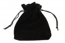 Fekete plüss szütyő