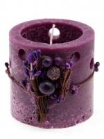 Gyertya lila díszes