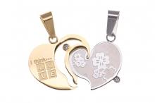 Medál arany-ezüst romantika