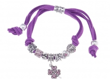 Pandorai karkötő Talizmán lila